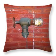 Chalked Pipe Throw Pillow