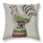 Chalkware Rooster Throw Pillow