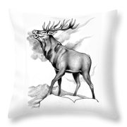 Challenge Stag 2 Throw Pillow