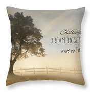 Challenge Yourself Throw Pillow
