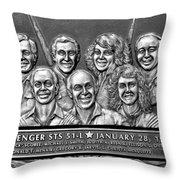 Challenger Crew Throw Pillow