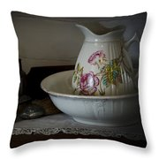 Chamber Pitcher With Basin 2 Throw Pillow