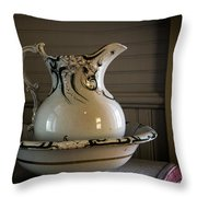 Chamber Pitcher With Basin 3 Throw Pillow