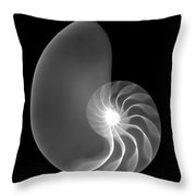 Chambered Nautilus Shell Throw Pillow