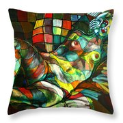 Chameleon I Throw Pillow