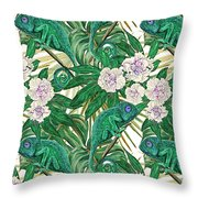 Chameleons And Camellias  Throw Pillow