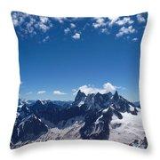 Chamonix Alpine View Throw Pillow