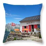 Chamonix Refuge Throw Pillow