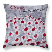 Champs De Marguerites - Love Is In The Air - Red -a23a3 Throw Pillow