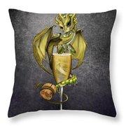Champagne Dragon Throw Pillow