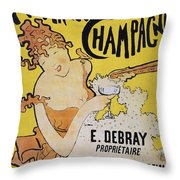 Champagne Poster, 1891 Throw Pillow