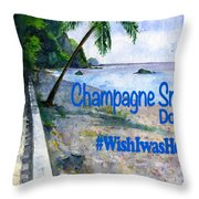 Champagne Snorkel Dominica Shirt Throw Pillow