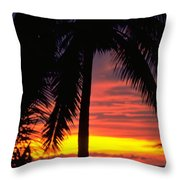Champagne Sunset Throw Pillow