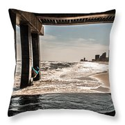 Champagne Surf  Throw Pillow by Kim Loftis