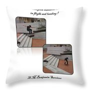 Champion In Flight And Landing Throw Pillow