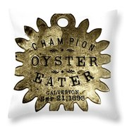 Champion Oyster Eater - To License For Professional Use Visit Granger.com Throw Pillow