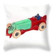 Champion Racer Throw Pillow