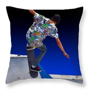 Champion Skater Throw Pillow