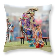 Championship Pow Wow - Grand Prairie Texas Throw Pillow