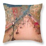 Champs De Elysee At Twilight. #paris Throw Pillow