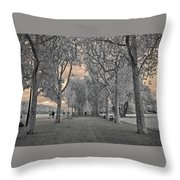Champs De Mars Throw Pillow