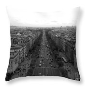 Champs Elysees In Paris Throw Pillow