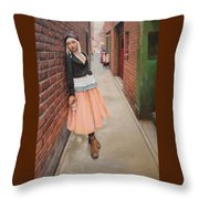 Chance Meeting In Fan Tan Alley Throw Pillow
