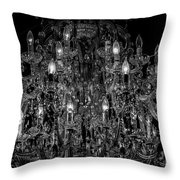 Chandelier 2360bw Throw Pillow