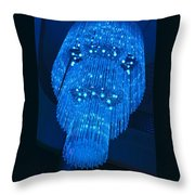 Chandelier In Blue 1 Throw Pillow