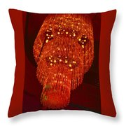 Chandelier In Red  Throw Pillow