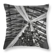 Chandelier In The Rafters Throw Pillow