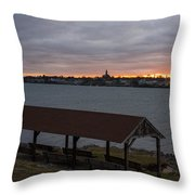 Chandler Hovey Park Sunset Marblehead Ma Throw Pillow