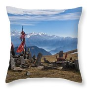 Chandrakani Pass Shrine 2 Throw Pillow