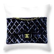 Chanel Bag Poster Throw Pillow