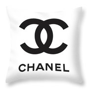 Chanel - Black And White 04 - Lifestyle And Fashion Throw Pillow