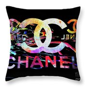 Chanel Black Throw Pillow