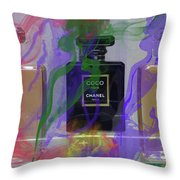 Chanel Coco Abstract Throw Pillow