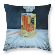 Chanel Coco With Lace Throw Pillow