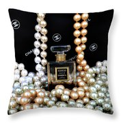 Chanel Coco With Pearls Throw Pillow