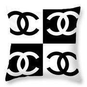 Chanel Design-5 Throw Pillow