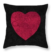 Chanel Heart-1 Throw Pillow