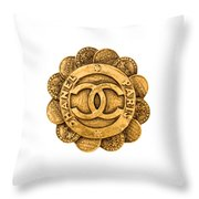 Chanel Jewelry-2 Throw Pillow