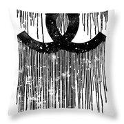 Chanel Logo Black White 1 Throw Pillow