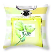 Chanel Magnolia Flower Throw Pillow