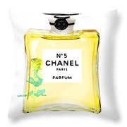 Chanel N 5 Perfume Poster Throw Pillow