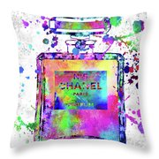 Chanel N.5 Colorful 5 Throw Pillow