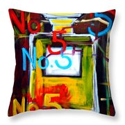 Chanel No. 5 Throw Pillow