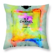 Chanel No.5  Throw Pillow