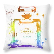 Chanel Number Nineteen Throw Pillow