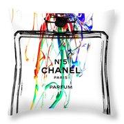 Chanel No. 5 White Throw Pillow